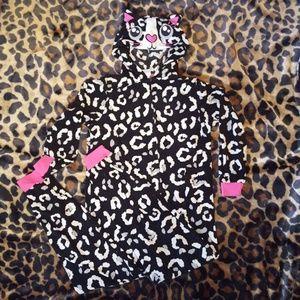 Girl's Cat Onsie Pajamas